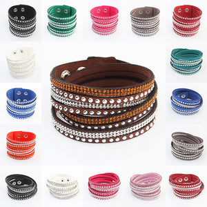 17 Colors New Unisex Multilayer Leather Bracelet Christmas Gift Charm Bracelets Vintage Jewelry For Women Pulsera