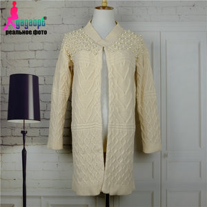2016 Russian Autumn&Winter Fashion Thick Warm Open Stitch Sweater Computer Knitted Women Sweater&Cardigan