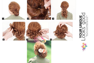 1PC Hair Buns Scrunchy Bun Hair Piece Updo Bride Bun Natural Hairpiece Wavy Messy Multifuctional Synthetic Curly Hair Chignon - Gifts Leads