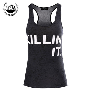 Killin' It Workout Tank Top Funny Workout Shirt. Women's Workout Clothes Tanks With Sayings tank top