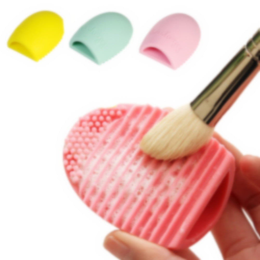 New Pop Brush Egg Cleaning Make up Washing Brush Silicone Glove Scrubber Cosmetic Foundation Powder Clean Tools