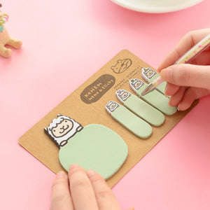 5 Piece, Cute Animal Korean Rabbit Sheep Kawaii Stationery Post It Diary Memo Pad Scrapbooking Sticky Notes Book Paper Sticker Bookmark