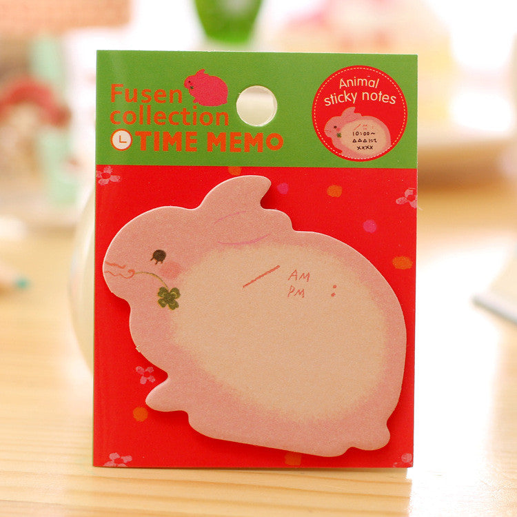 8 pcs Creative Stationery Forest Animal Series Cute Paper Memo Pad / Sticker Post Sticky Notes Notepad School Office Supplies