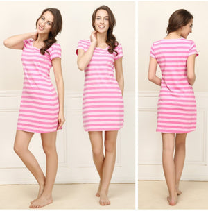 New arrival 2016 100% cotton sleepwear female summer