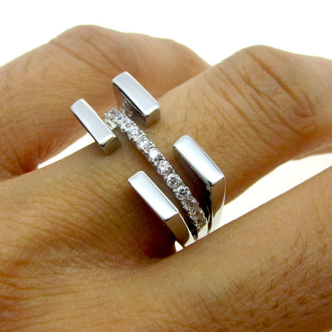 High Quality 925 Silver Brand Ring For Women Fashion 18KT Platinum Plating