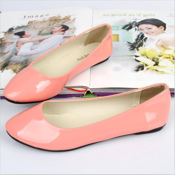 2016 Brand New Candy Colors Girl Flat Shoes