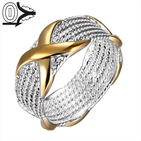 925 Sterling Silver Ring Fine Fashion Color Separation X Silver Jewelry