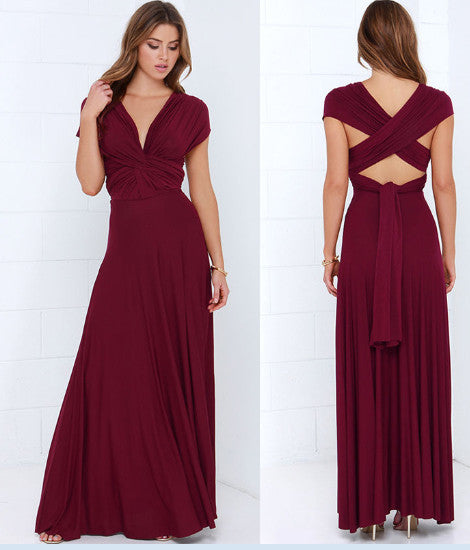 2016 Summer Sexy Women Maxi Dress Red Bandage Long