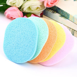 Hot Selling 1 pc Natural Wood Fiber Face Wash Cleansing Sponge Beauty Makeup Tools Accessories