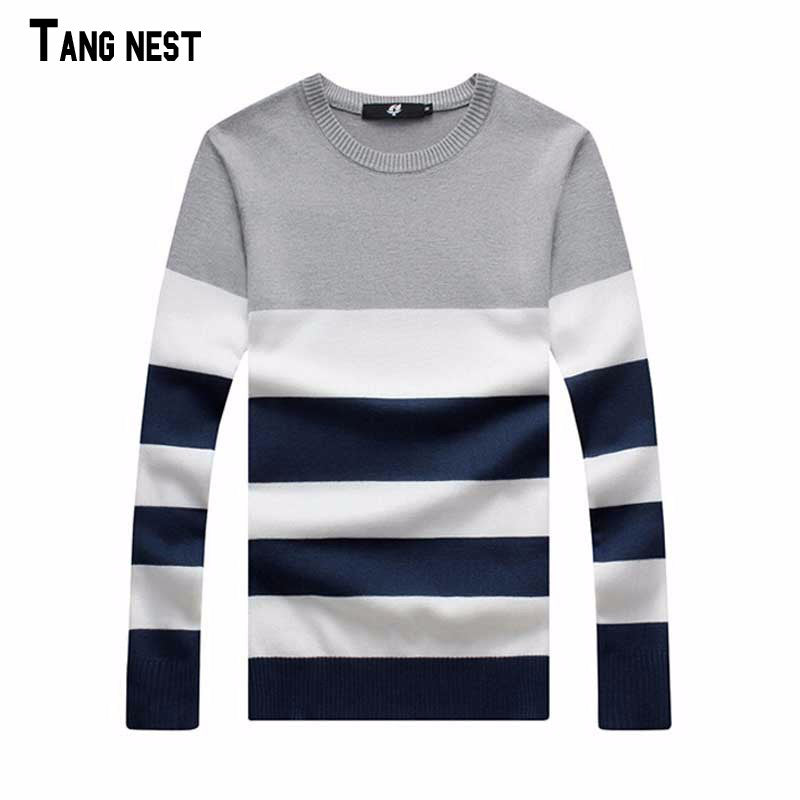 Plus Size Pullover 2016 New Arrival Men's Fashion Striped