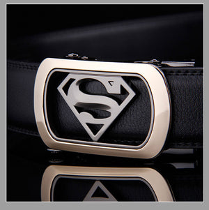 2016 Mens Luxury Brand Belt Business Belts Superman