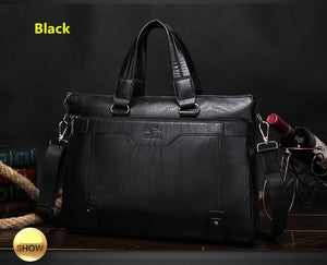 2016 Men Casual Briefcase Business Shoulder Leather