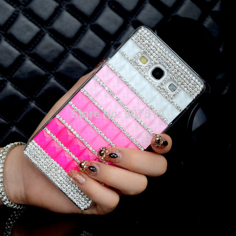 Luxury Handmade Phone Cases Bling Square Diamond Rhinestone