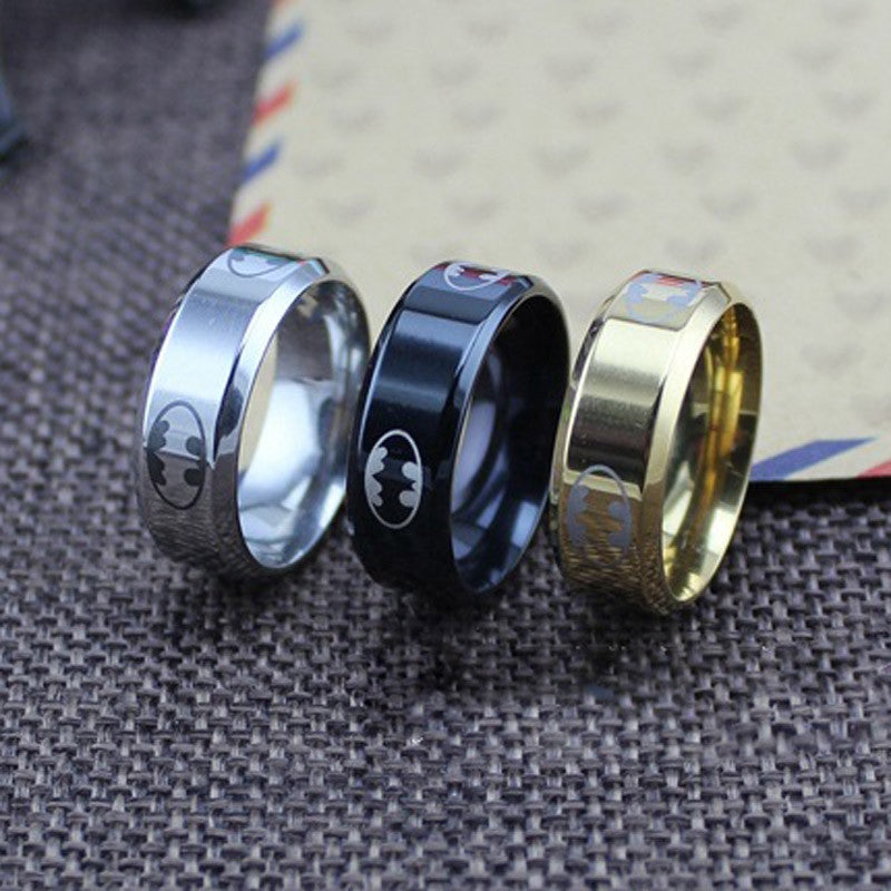 V8 High Polish Stainless Steel Batman Ring for Men Top Grade Jewelry Accessories 2015 New Arrival Classical Hero Rings  QA742