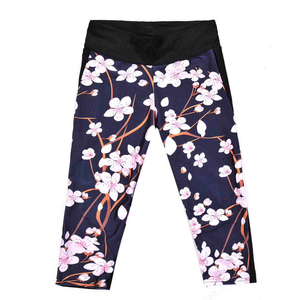 Sexy 7 point pants Fashion women's leggings Winter bloom