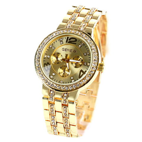 Women Girl Unisex Stainless Steel Quartz Wrist Watch