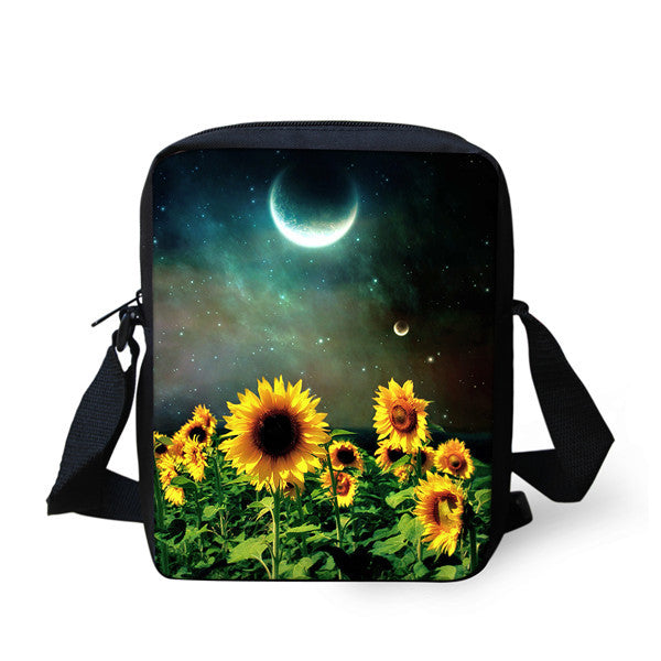 Brand Designer Women Messenger Bags Butterfly Shoulder Travel Bag Girls Sunflower Crossbody Bag,Small Female Messenger-Bag Mujer