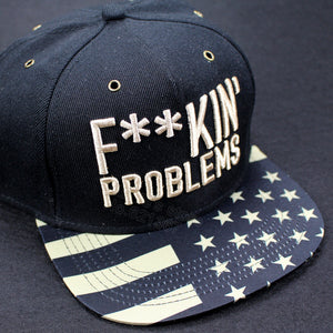 2016 new brand hot sale black/gold fuckin problems adjustable