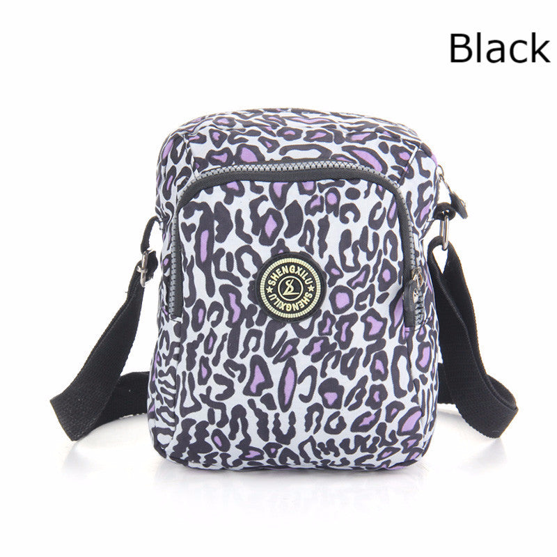 Women Shoulder Bags Nylon casual pink leopard brand female handbags girls messenger bags small crossbody women bags