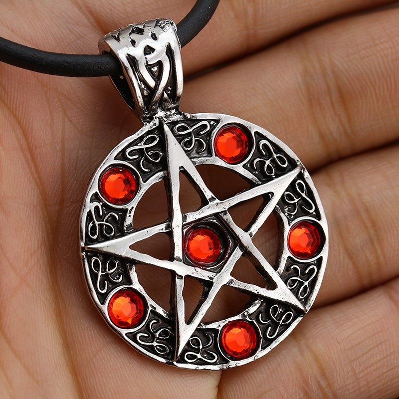 Hot sale fashion star supernature movie collection metal unisex Pentagram necklace 2016 high quality