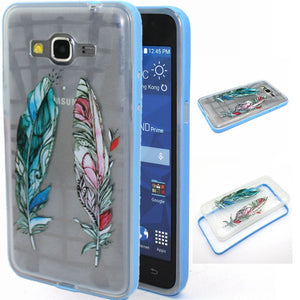 Colorful Printing Hybrid Soft TPU Transparent Back Cover