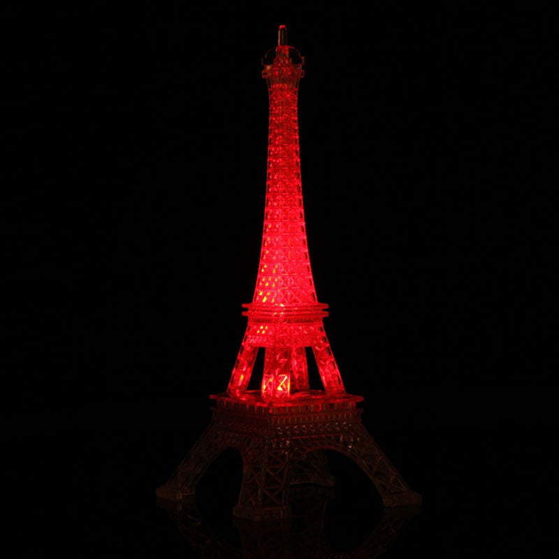 Hot Romantic Creative Eiffel Tower Desk Bedroom Night Light Decoration Gift Free Shipping