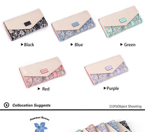 2016 New Fashion Envelope Women Wallet Hit Color