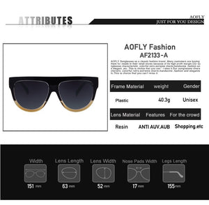 2016 Fashion Sunglasses Women Flat Top Style Brand Design