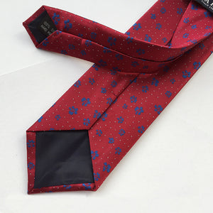 Vintage Men's Suits Necktie Polyester Silk Prited Plaid Ties