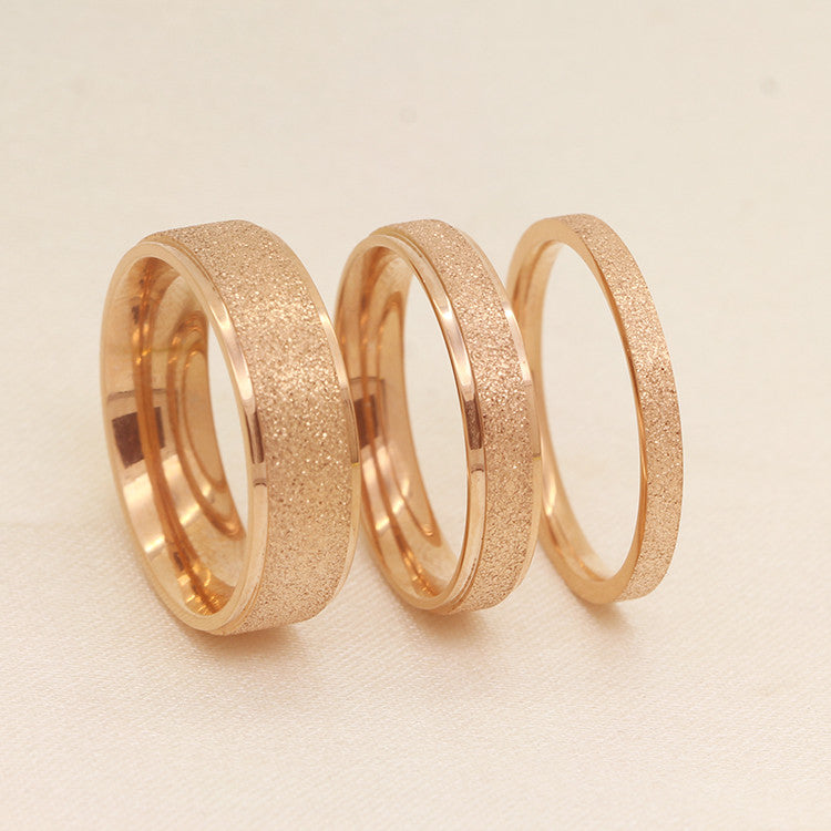 Korean Fashion Female Tail ring Finger Titanium Steel Rose Gold Plated Wedding For Women The Price is for 1 pcs