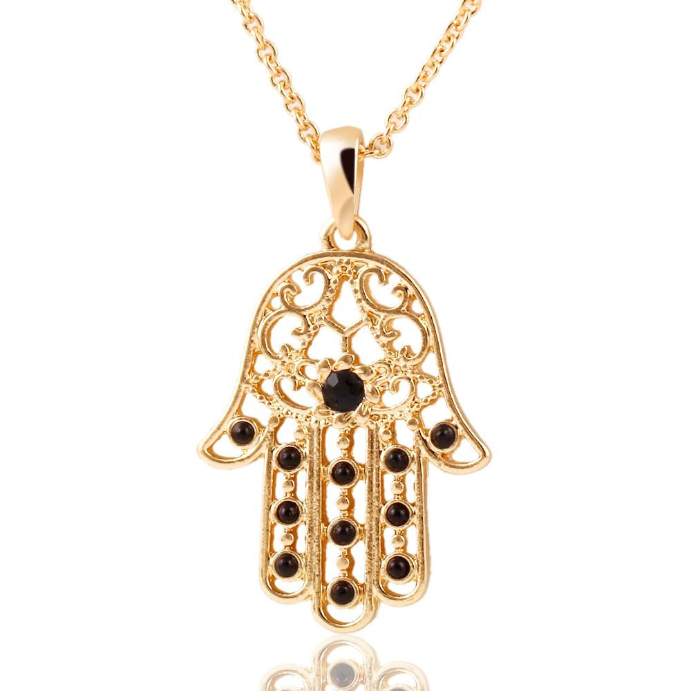 Classic The hand of Fatima hamsa Necklace jewelry Pendants Metal Chain Palm Statement Necklace Fashion for women colar CS13