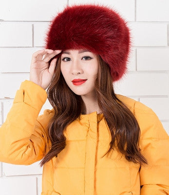 Winter Fashion Women's Hats Lady Fluff Cap Soft Warm