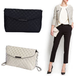 New Womens PU Leather Handbag Fashion Lingge Shoulder Bag
