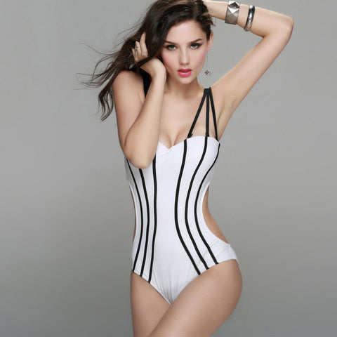 2016 New Summer Sexy Style One Piece Swimsuit For Women Plus Size Push Up Strapless Swimwear Brazilian Bandage Beachwear