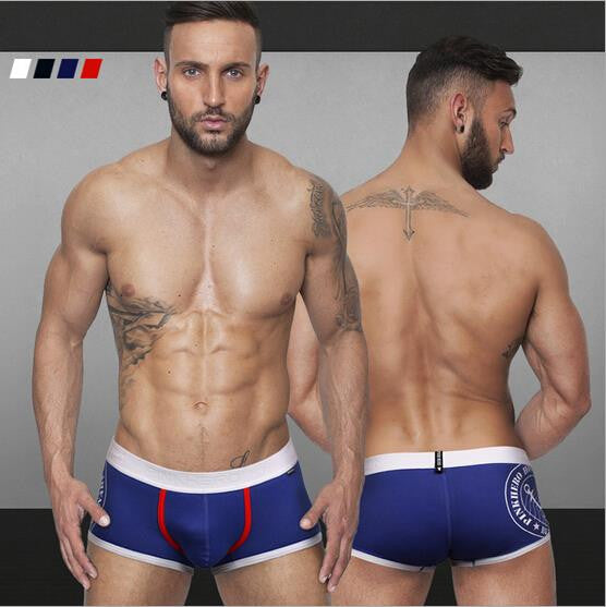 2016 new style pattern printed boxers men cueca for summer