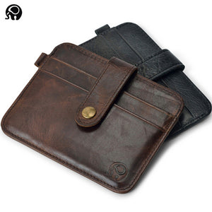 Slim leather multi-card-bit pack bag men Wallet Business Card