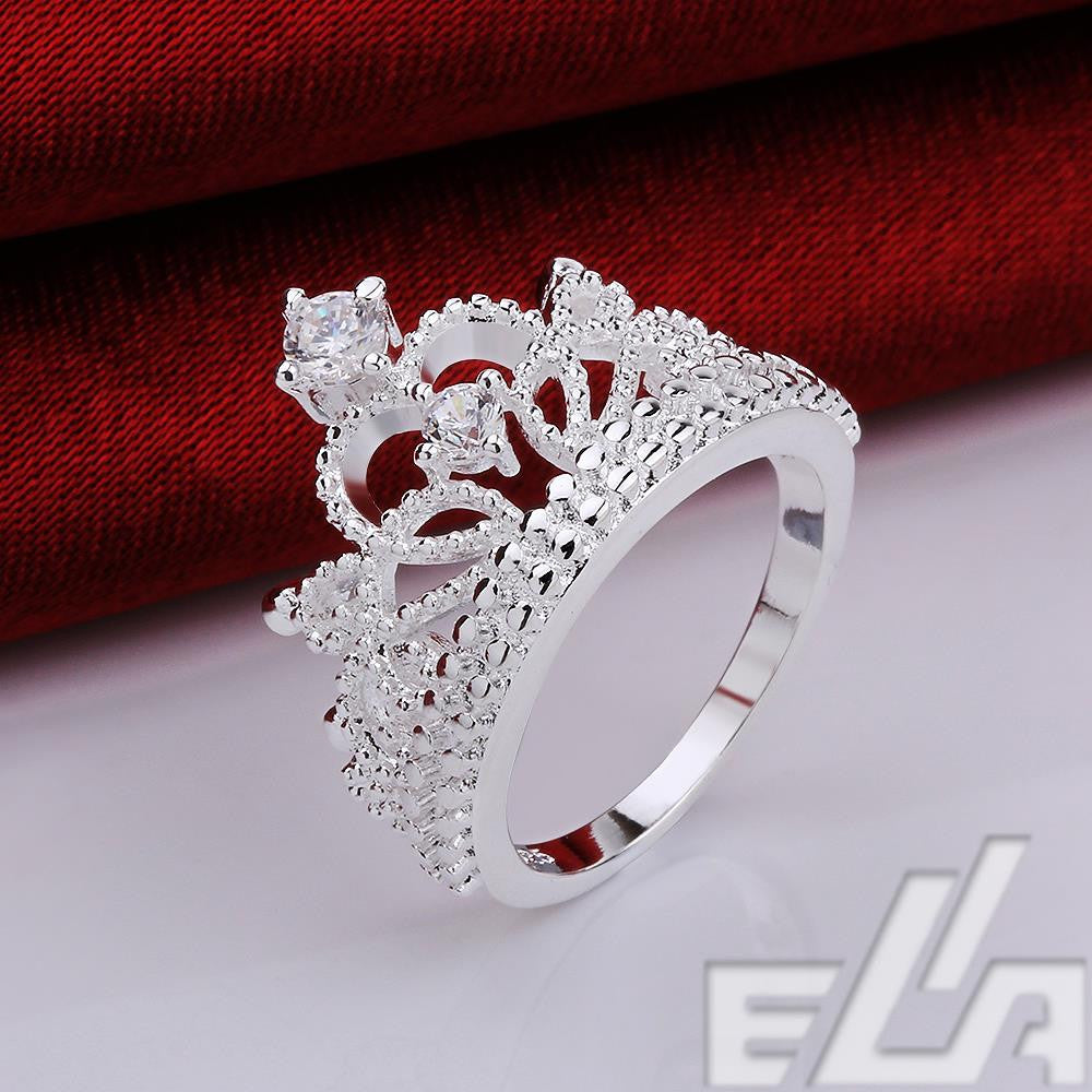 Gift 925 silver plated vintage jewelry aliancas casamento austrian crystal crown