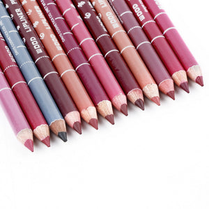 12 PCs/Set Fashion  Women's Professional Waterproof  Lip Liner Pencil Long Lasting 15CM Lip liner pen makeup - Gifts Leads