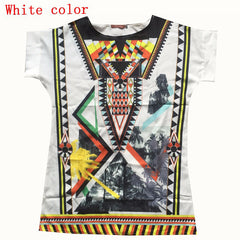 2016 New Women Chiffon Blouse Vintage Tribal Print Brand Blouses Casual Loose Straight Dresses Plus Size O-Neck blouse Shirt