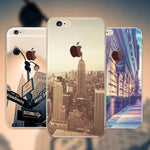 Beautiful City Ultra Thin Fashion Transparent Cover For iphone 6