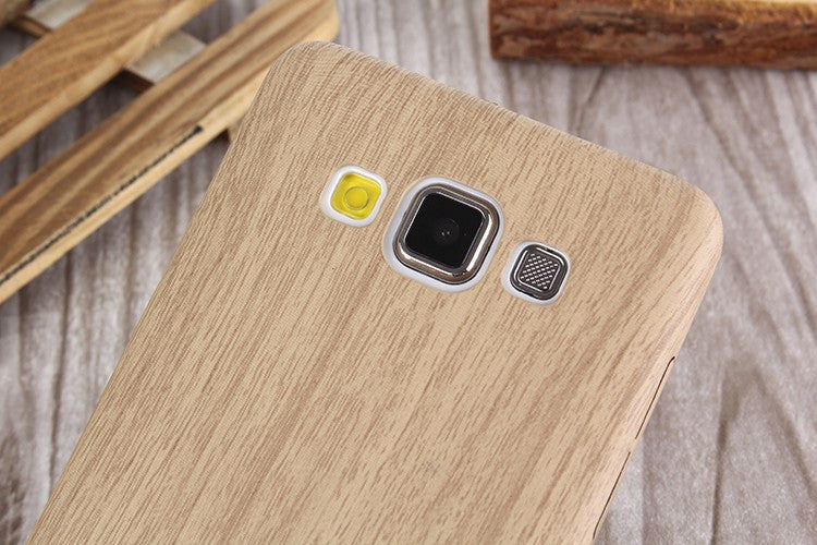 Slim TPU silicone wood leather soft Phone Case For Galaxy
