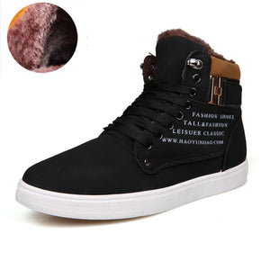Men Shoes New 2016 Canvas Fur Casual Shoes Men High Top