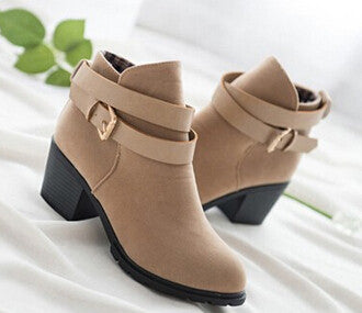 Winter fashion women boots thick heel platform shoes
