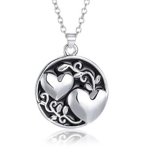 New Fashion 2016 Korean engraved Pendant Necklaces Engrave sister Matching Heart circle Necklace Valentine's Day Gift