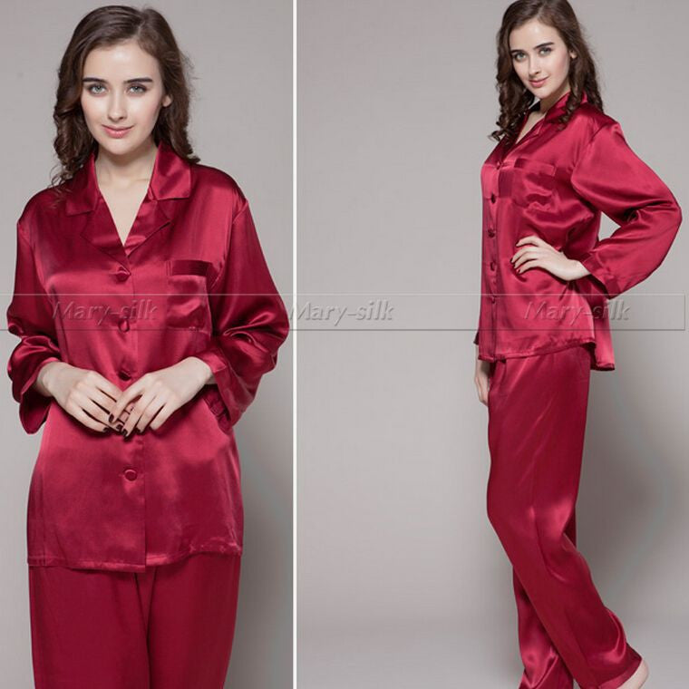 Luxury Gift!  Womens Silk Satin Pajamas