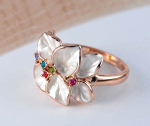 Big Sale Italina Rigant Ring Rose Gold Plt SWA Elements Austrian Crystal