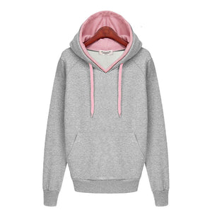 Women Autumn Winter Sweatshirt Casual Double Hoodies