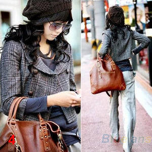 2016 New Fashion Women's Lady Beret Braided Baggy