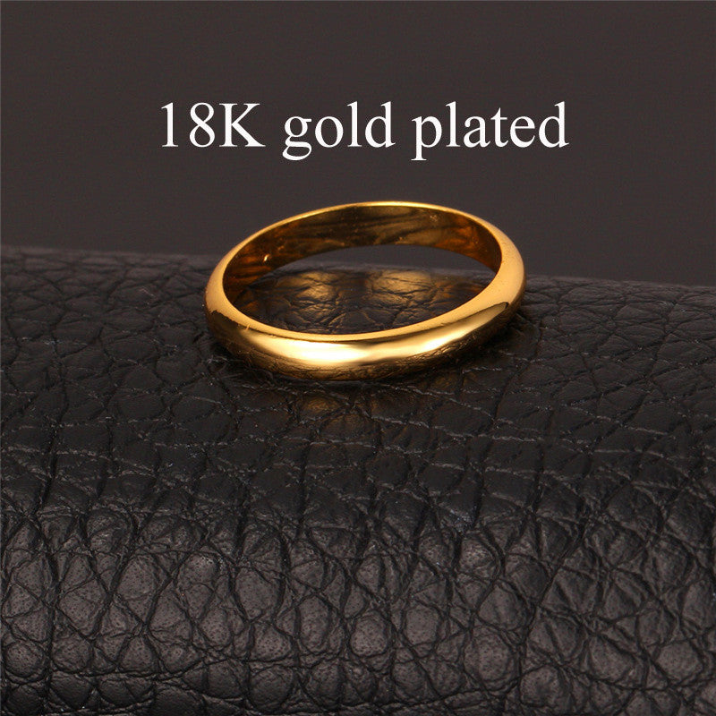 Classic Rings For Women Or Men High Quality 18K Real Gold Plated