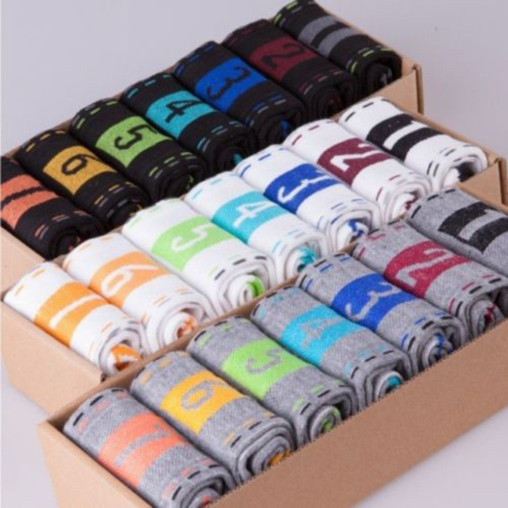 Newest 7 Pairs/set Men Boys Casual Dress Cotton Sports